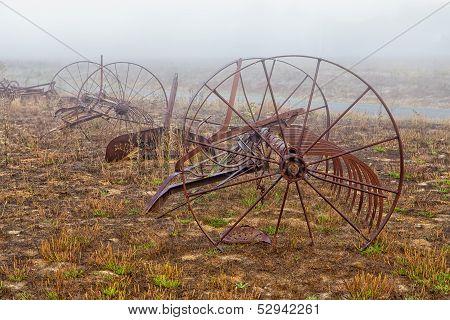 Rusting Old Horse Drawn Tiller