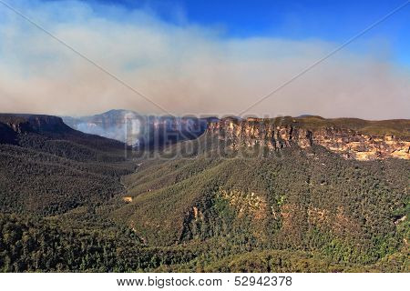 Bushfire In Grose Valley Australia