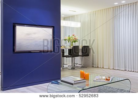 Domestic Kitchen Design and Modern Living Room