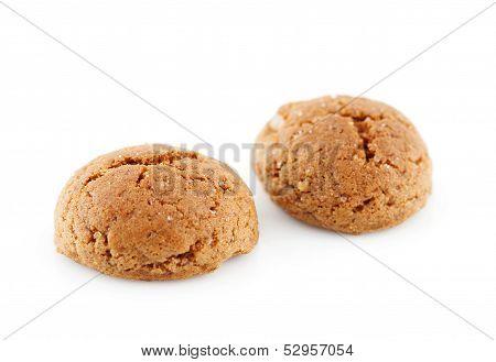 Typical Dutch Candy (pepernoten) In Closeup