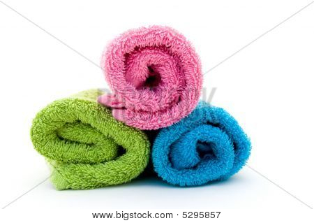 Colorful Towel Rolls