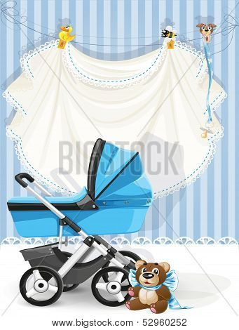 Baby shower blue card