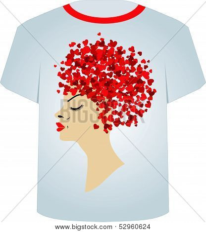 T Shirt Template- Valentine hair