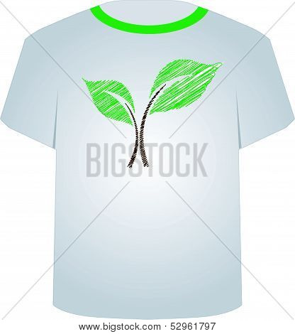 T Shirt Template- sketched seedling