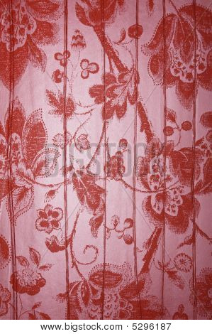 Red Floral Metallic Background