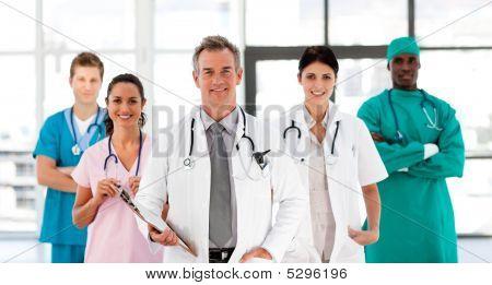 Smiling Medical Team Looking At The Camera