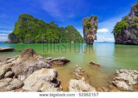 Ko Tapu rock on James Bond Island, Phang Nga Bay in Thailand