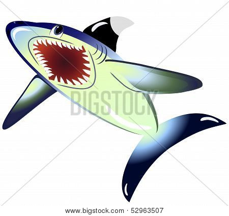EPS10 vector illustration. Shark isolated on a white background