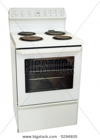 White Kitchen Stove