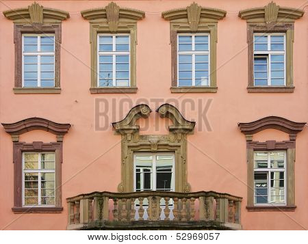 Historic Window Front With Balcony