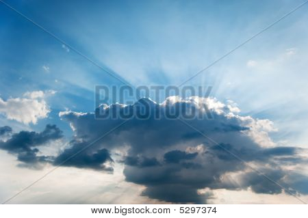 Cloud And Beams Of The Sun
