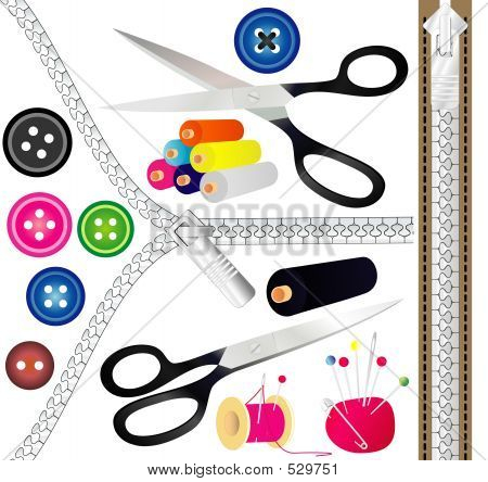 What are the different sewing tools and equipment