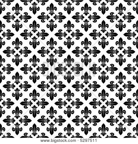 Naadloze textuur met Fleur-de-Lys