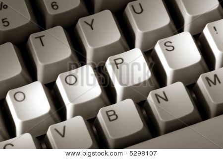 The Word Oops On Special Computer Keyboard