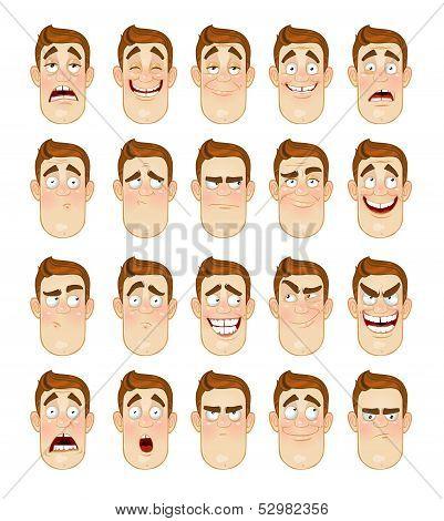 Man Emotions Face