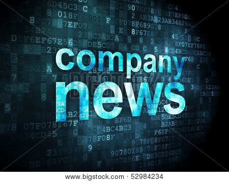 News concept: Company News on digital background