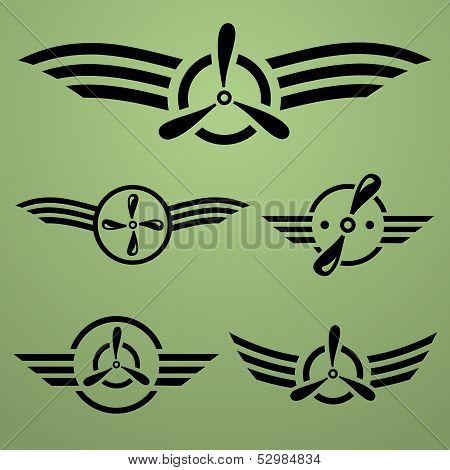 Airforce emblem set