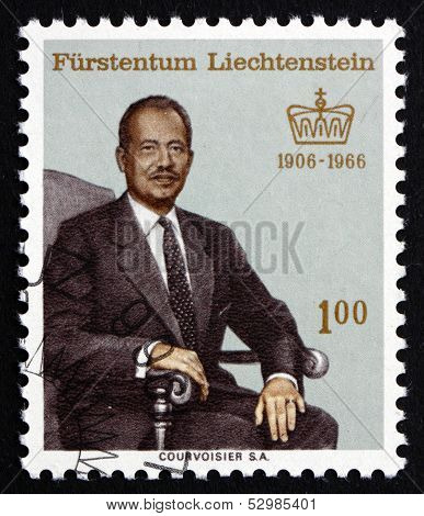 Postage Stamp Liechtenstein 1966 Prince Franz Joseph Ii