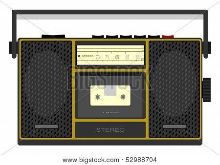 Retro cassette player