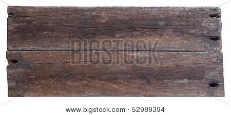 Two Old Planks Of Driftwood