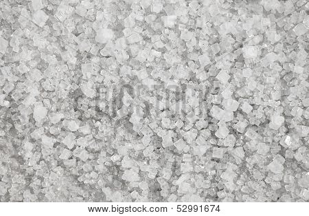Large Crystals Of Natural Salt Background