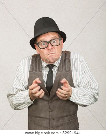 Upset Man Clenching Fists