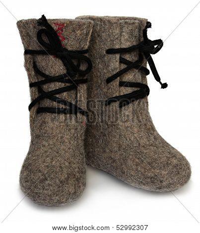 Child's valenki - russian felt footwear