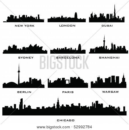 silhouette cities