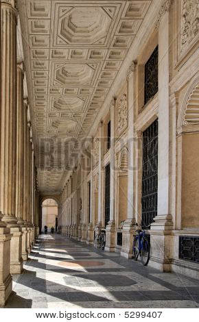 Baroque Arcade In Rome