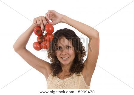 Woman With  Tomato.