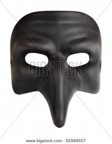Traditional venice mask with big nose (Zanni) isolated over the white background