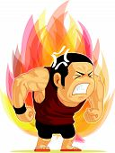 stock photo of boiling point  - A vector image of a man blazing with anger - JPG