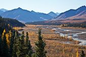 stock photo of denali national park  - Landscape view of the bridge over Denali National Park - JPG