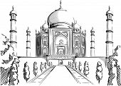 foto of mausoleum  - A vector image of an architectural landmark of India - JPG