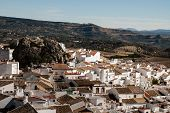 stock photo of pueblo  - Olvera is a white village  - JPG
