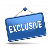 pic of exclusive  - exclusive offer edition or VIP treatment rare high quality product with limited production icon button or exclusivity sign - JPG