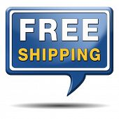 free shipping or delivery order web shop shipment for online shopping at internet webshop ecommerce