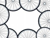 Bicycle Wheels Background, Wheel Set Isolated On White