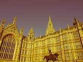 Retro Looking Houses Of Parliament