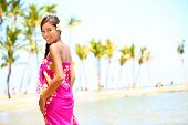image of hawaiian girl  - Beach travel  - JPG