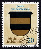 Postage Stamp Liechtenstein 1965 Arms Of Lords Of Schellenberg