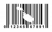 Malta shopping bar code isolated on white background.