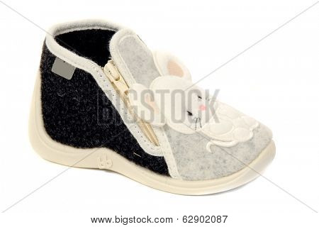 A sweet baby shoe taken on a clean white background.
