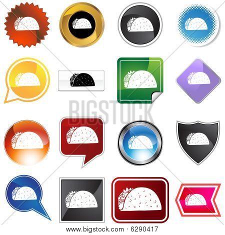taco icon set