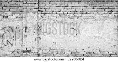 grey grunge brick wall background