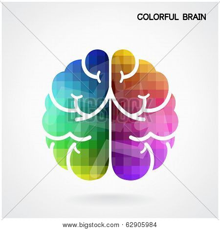 Creative Colorful  Brain Idea Concept Background