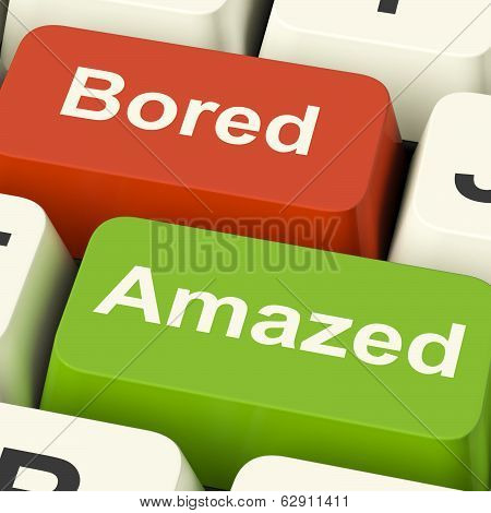 Bored Amazed Keys Shows Boredom Or Amaze Reaction