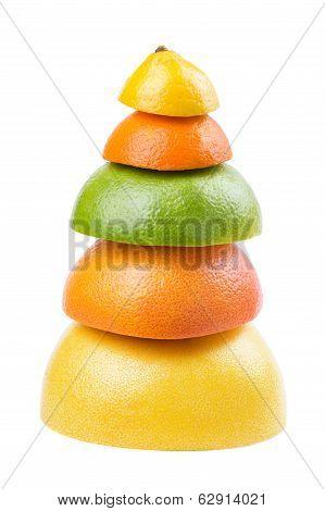 Pyramid Of Ripe Fruit