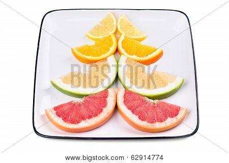 Grapefruit, Orange, Sweetie And Lemon