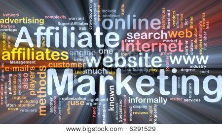 Affiliate Marketing palavra nuvem caixa pacote